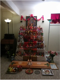 Shown here is an example of how dolls are exhibited. Displayed here is 30 years worth of doll collecting. Some of these dolls are almost 100 years old.