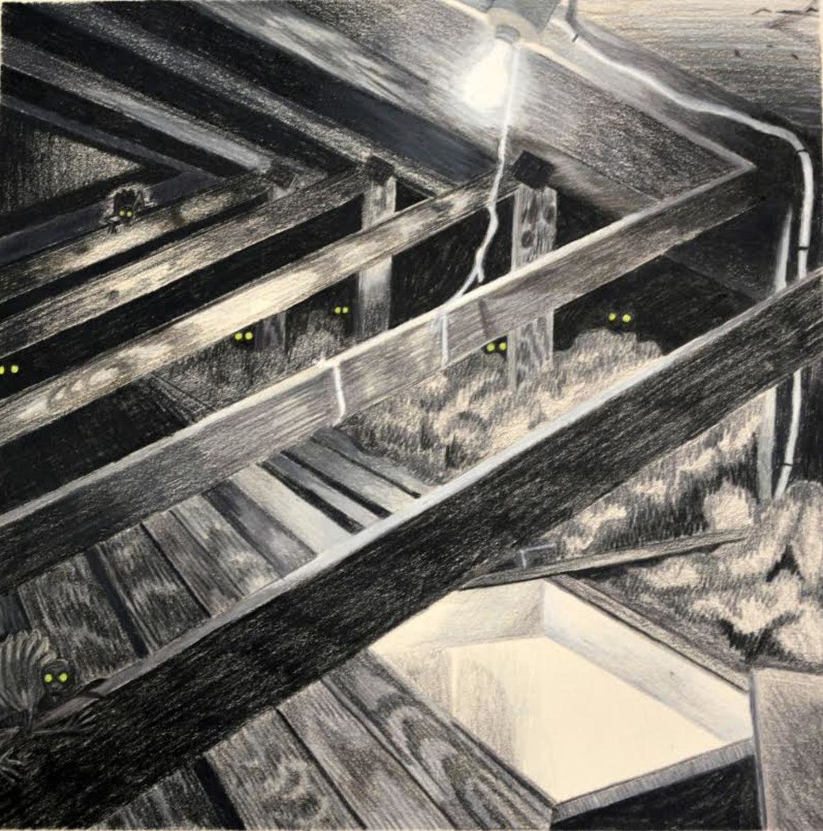 Charcoal drawing done by Moeller.