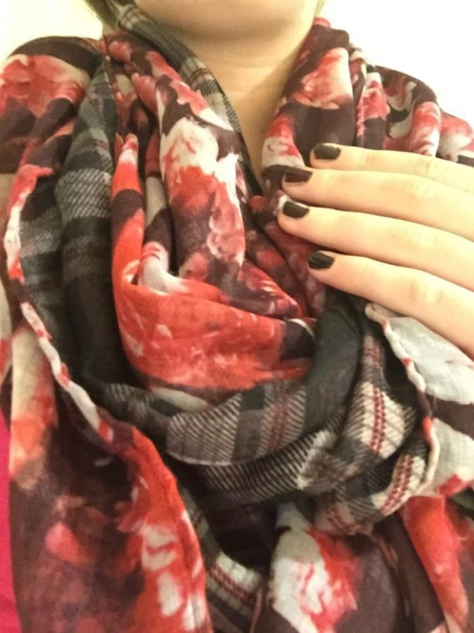 """Scarfs make every outfit warmer. Without even adding a sweater or a jacket, this can transform an outfit. Junior Marissa Koster said, """"I think that scarves add warmth to any outfit."""""""