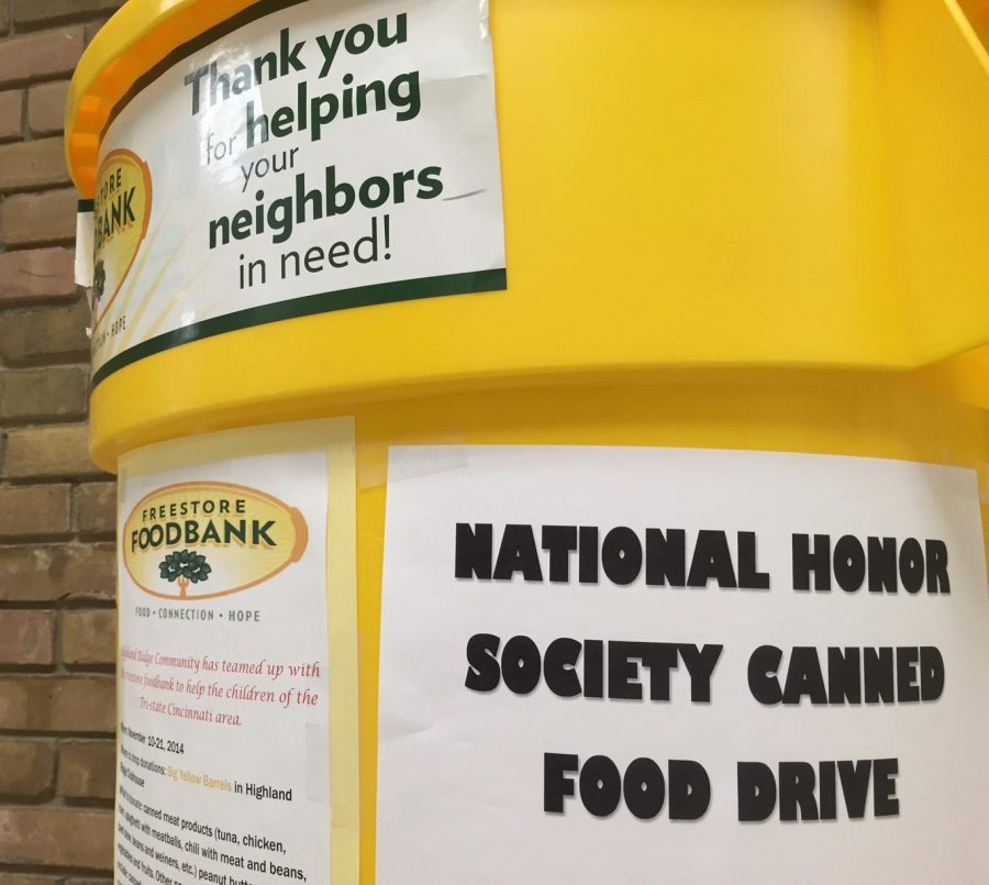 The+National+Honor+Society+canned+food+drive+continues+throughout+this+week.+Bins+are+placed+throughout+the+school+and+all+types+of+boxed+or+canned+food+is+accepted.+The+food+will+then+go+to+the+Freestore+Foodbank%2C+an+organization+who+always+needs+volunteers+in+the+store.