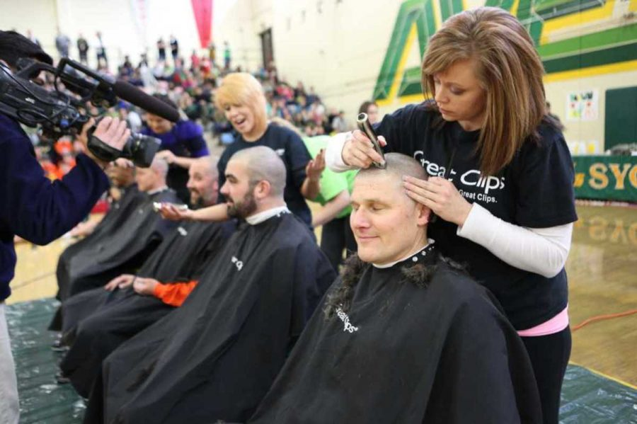 Throughout the week preceding the pep-rally students could donate money in support of the Dragonfly foundation. Whichever of the five teachers earned the most money would get their head shaved. In the end all five teachers decided to shave their heads to show support for cancer patients.