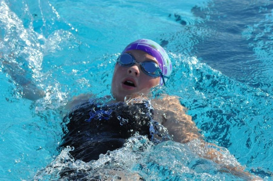 Here%2C+Bahr+is+seen+swimming+backstroke+in+a+meet.+Bahr+has+developed+backstroke+as+her+number+one+stroke+over+the+years+and+continues+to+improve+on+this+stroke+every+chance+she+gets.+During+practice+Bahr+works+on+kicking+to+strengthen+her+legs+and+makes+sure+her+form+is+right+so+that+she+can+perform+her+best+at+competitions