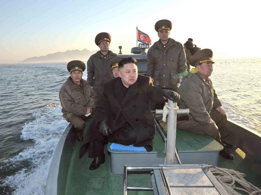 Kim+Jong+Un+oversees+the+North+Korean+military+while+riding+heavy+artillery.+The+leader%E2%80%99s+%28and+nation%E2%80%99s%29+rampant+militarism+was+a+point+of+ridicule+in+%E2%80%9CThe+Interview%E2%80%9D.++In+some+releases%2C+Sony+blurred+out+military+insignia+on+the+characters%E2%80%99+costumes+because+they+were+deemed+offensive+to+use+satirically+by+the+hackers.