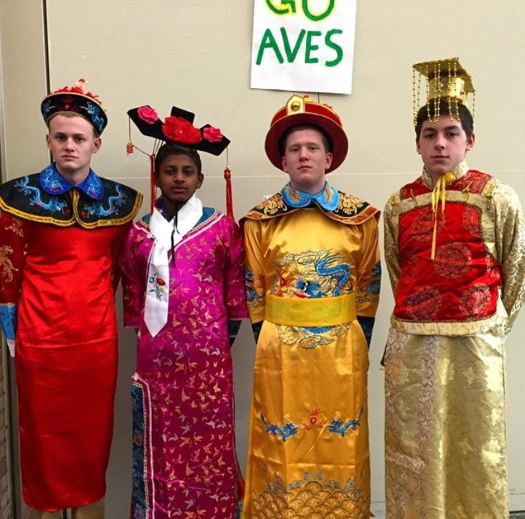 SHS was alive with color today as we celebrated Chinese culture at lunch with help from Chinese Club. The celebration was in honor of the new year, this year is the year of the ram. During all three lunches there were activities, food and authentic dress available to students with help from UC and Miami students.