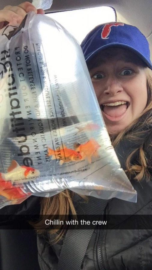 Our selfie contest winner is Junior Haley Rayburn. Her picture of herself with her new pet fish was deemed the funniest submission. Rayburn has won a 10 dollar Chipotle gift card.