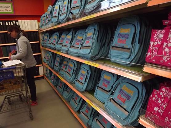 Crayons to Computers Club raises money that then goes over to the actual Crayons warehouse and is used to buy supplies such as back packs, binders, markers, ect, to provide on their shelves. Here teachers from underprivileged schools can pick up class room items for free.