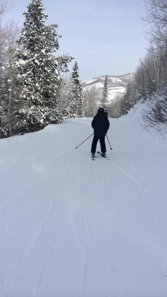 Students ski outside of school. Multiple students are beginning to explore the upcoming sport. Ski Club is a great way to get involved in a club and also explore skiing and snowboarding if you are interested.