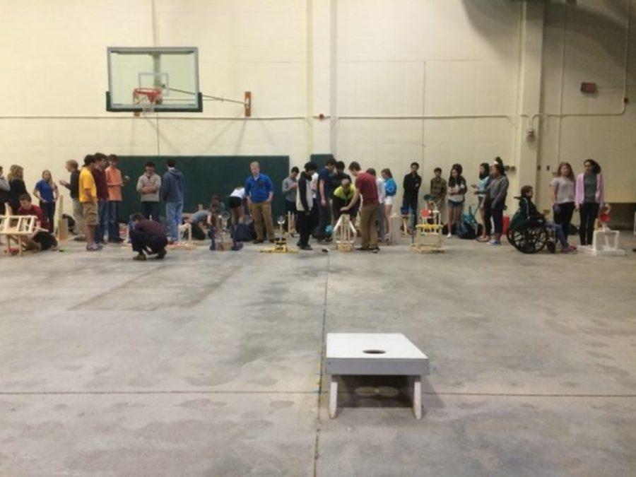 Physics students had begun what physics teacher Julie Haverkos has dubbed