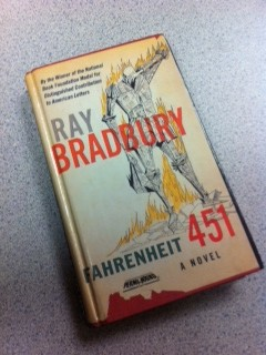 """The freshman English 9 accelerated class begins reading Fahrenheit 451. The books are available for purchase at the bookstore for $8. """"I like reading books for class because talking about it with everyone makes me understand more. Also, because I have to read it for class I have motivation to actually read at all,"""" freshman Yasmine Guedira said."""