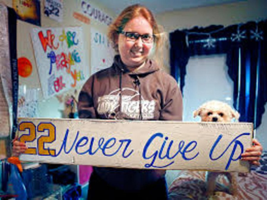 College of Mount Saint Joseph basketball player Lauren Hill never gave up. After being told that she would live until Christmas of 2014 at the most, she persevered and made it through Easter. Hill's determination fighting mentality has inspired us all, and will never be forgotten.
