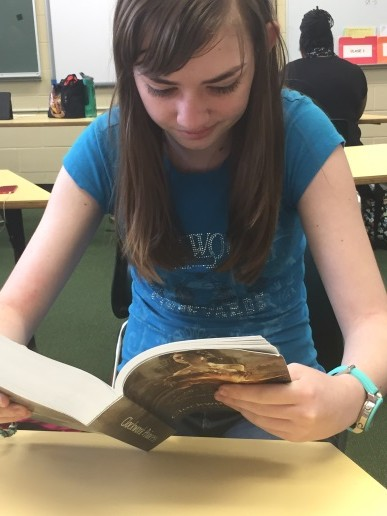 Freshman Kelsey Boudreaux is an avid reader. She reads very quickly and loves new books, especially if she can find a new series. She is currently reading Cassandra Clare's Mortal Instruments series.