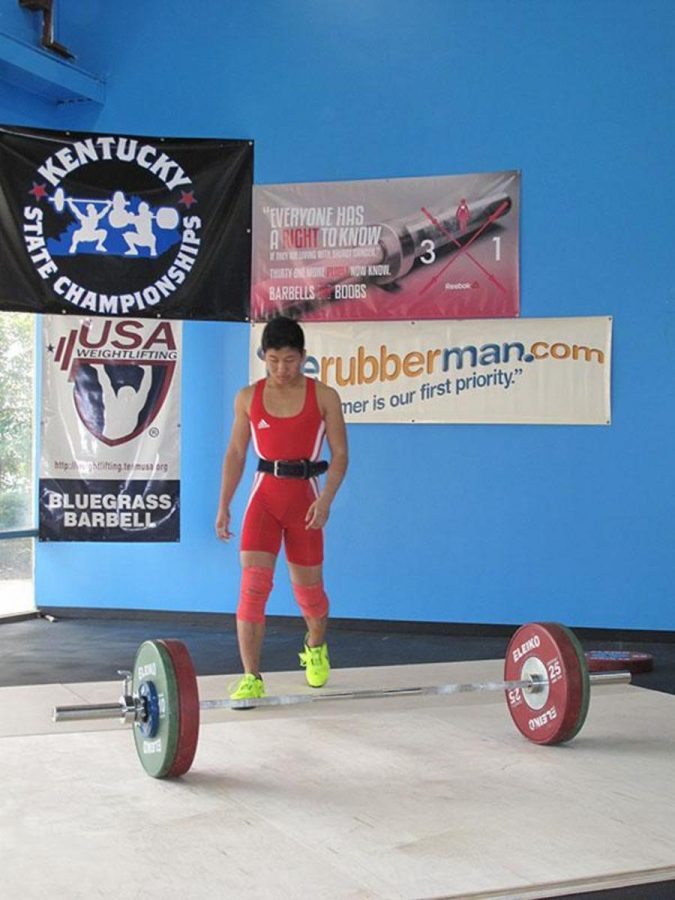 Ding snatches 99 kilos, or 218.257 pounds during a meet. The clean and jerk and the snatch are both highly technical lifts. Both Ding and Sweeney lift six days a week in preparation for meets.
