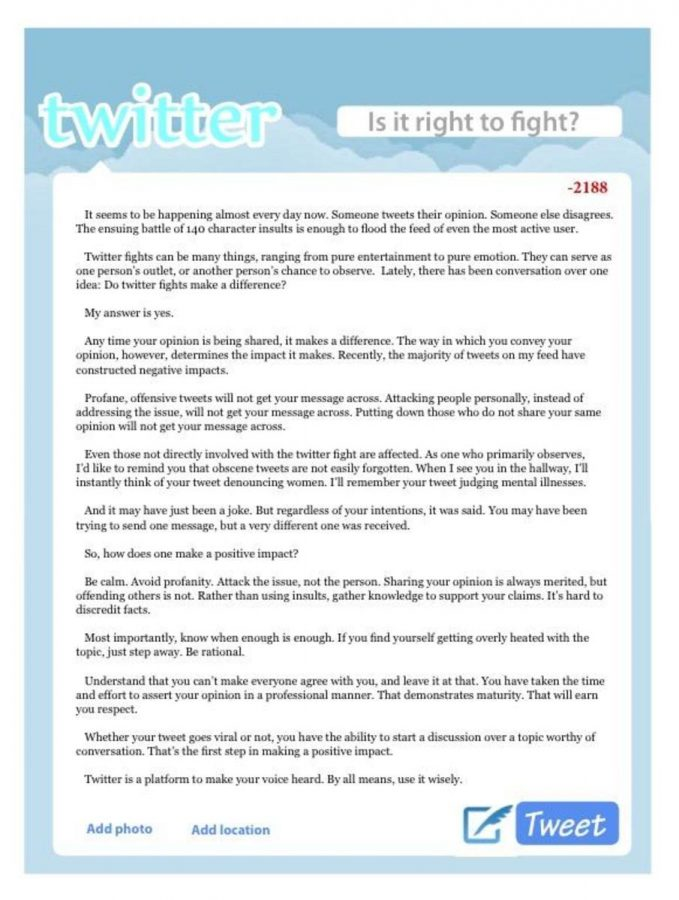 Twitter: Is it right to fight