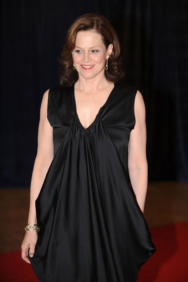 Hollywood actress Sigourney Weaver at the 2012 White House Correspondents' Dinner. Weaver is close friends with Durang and starred as Masha in the original Broadway cast. The character was likely written for her as Masha is an aging movie star still trying to be loved by youth.