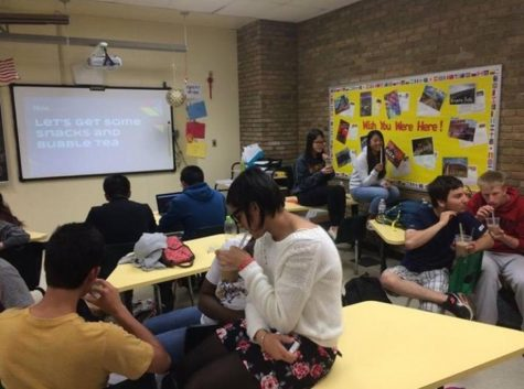 International clubs meets once a month on a chosen Thursday. There they learn about many different countries and cultures. Photo courtesy of Sherry Chen