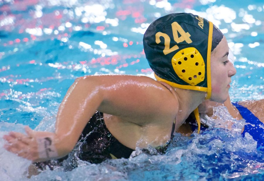 Senior Hannah Schweggmann plays defense for the hole position. Schweggmann has been a member of the team since her freshman year. She is considering continuing her water polo career at the collegiate level.