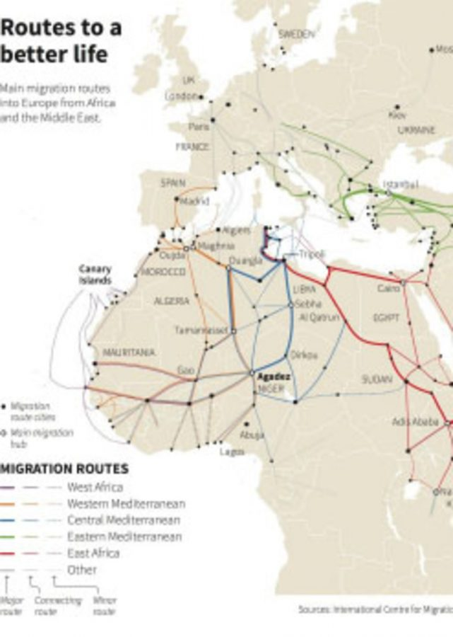 This+map+puts+into+perspective+the+vast+distances+traveled+by+the+migrants.+These+travels+can+take+anywhere+between+a+few+days+to+several+weeks.+After+their+journeys%2C+however%2C+they+are+not+always+accepted+into+the+countries+they+seek+refuge+in.%0A