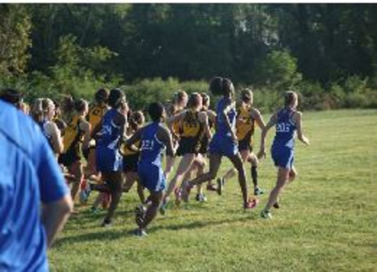The top seven girls start the varsity race. Junior Allison Kossen was the top runner for Sycamore with a time of 20:55:5. Overall, the Lady Aves did great in this meet.