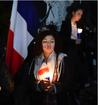 """Thousands of people across the world are showing their support for France during this time.  According to The New York Times, President Obama has """"pledged again that the United States would stand with the French as they pursue the terrorist who killed at least 129 people and wounded hundreds more.""""  Seven of the eight attackers died, and authorities are seeking the last attacker."""