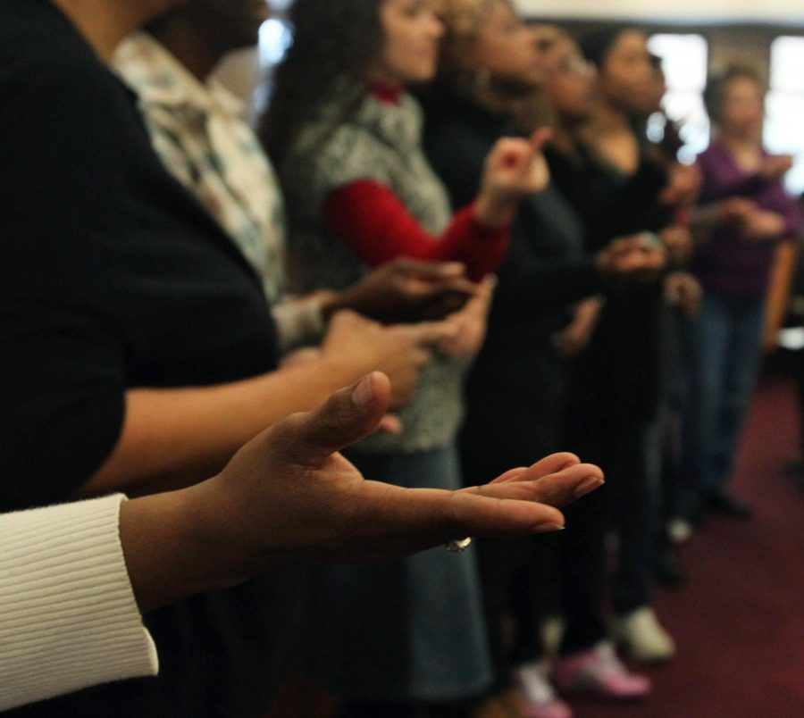 These+are+American+Sign+Language+Interpreters.++They+are+signing+for+the+Gospel+Meets+Symphony+at+Mount+Cavalry+Baptist+Church+in+Akron%2C+Ohio.++This+program+was+founded+21+years+ago.