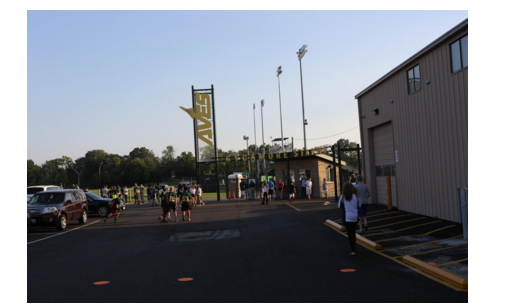 Bud Acus field at the Junior High School is the scene of football home games. SHS football fans sit in the Aves Cave. The Aves Cave is the student section.