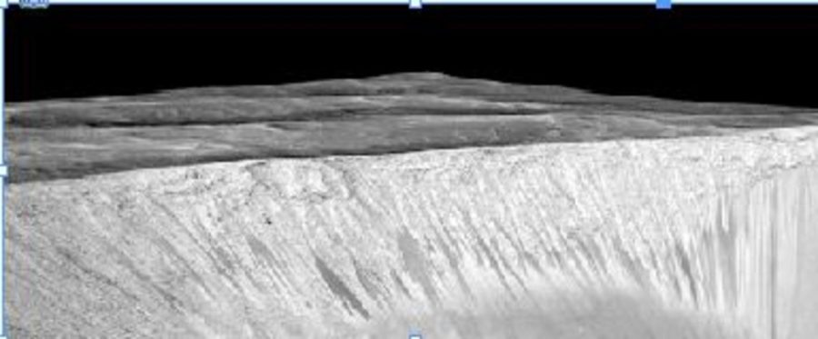 The streaks on this mountain show signs of water.  The Mars One trip has a new flight scheduled 26 months after the first one.  The idea is to spread humanity, in the hope of securing our safety via 'multiple baskets'.
