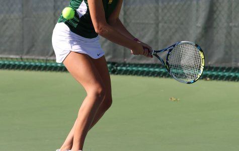 Sophomore Halle Gordon swings into the 2015 tennis season. Sycamore starts the season at the beginning of August with a scrimmage against Seven Hills. All of Seven Hills' teams played in practice matches against the three Sycamore teams.