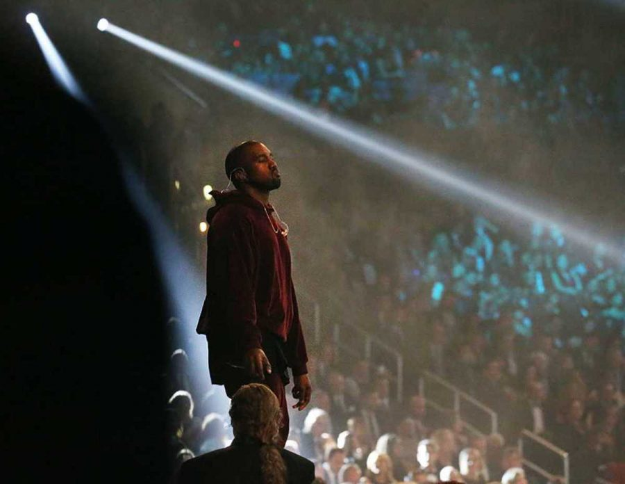 ++West+awaits+a+crowd+before+performing+at+the+Grammy%E2%80%99s+in+2015.+His+newest+album%2C+Swish%2C+is+set+to+come+%09out+on+Feb.+11.+On+top+of+Kanye%E2%80%99s+collaboration+with+French+Montana+and+Rihanna+for+this+album%2C+he+is+also+working+with+Paul+McCartney.