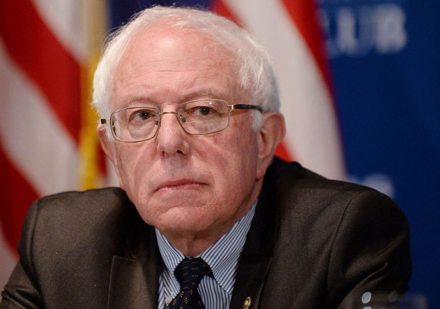 Sanders, attending a Democratic Party event. This picture was taken weeks before he announced his running for President. Sanders is the oldest candidate in either party.