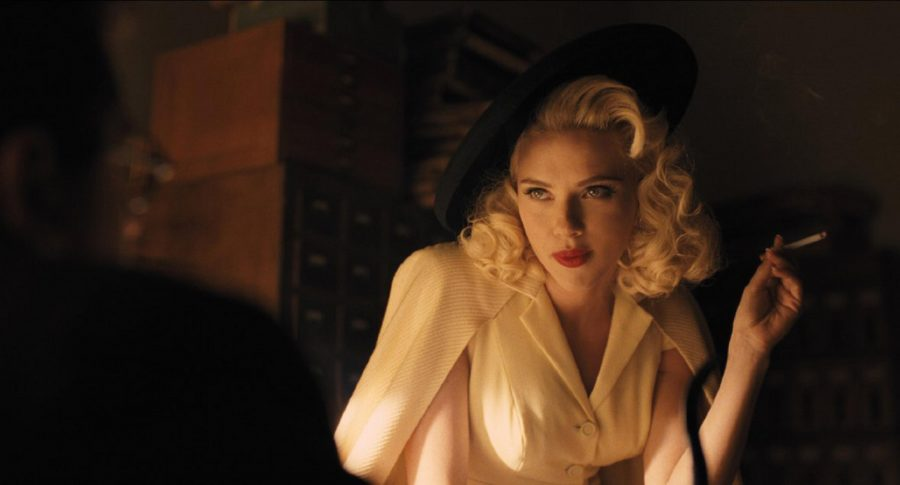 Scarlett+Johansson+plays+the+actress+Deanna+in+%22Hail%2C+Caesar%21%22+The+movie+was+directed+by+the+Coen+Brothers.+The+movie+was+set+in+1950s+Hollywood.
