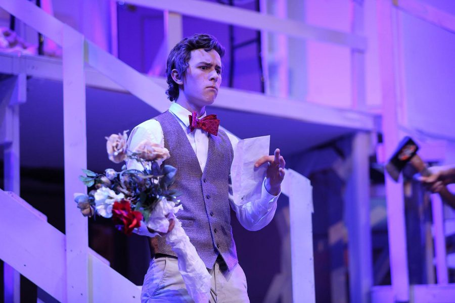 Senior Mitch Singstock in Aves Theatre's