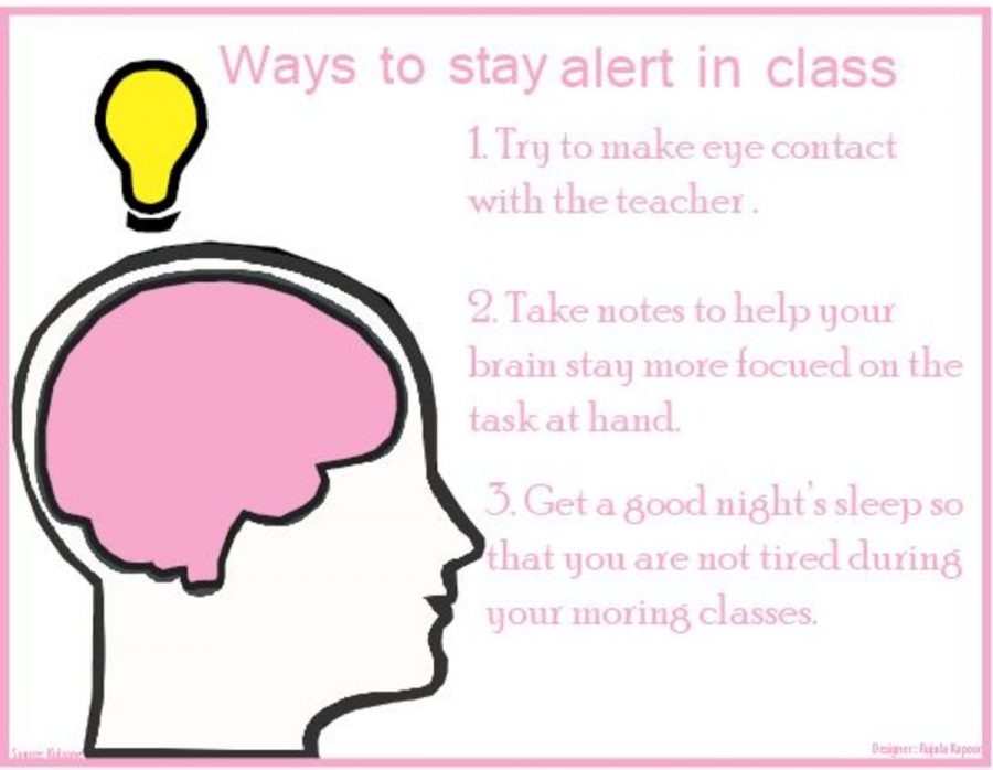 Ways to stay alert in class