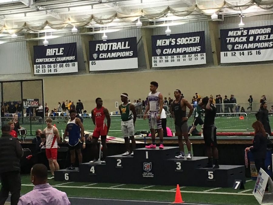 Senior Jeremiah Hunter ran two individual events and two relays at the state meet. He placed second in the 200 meter dash and 3rd in the 200 meter dash. Hunter plans on running spring track.