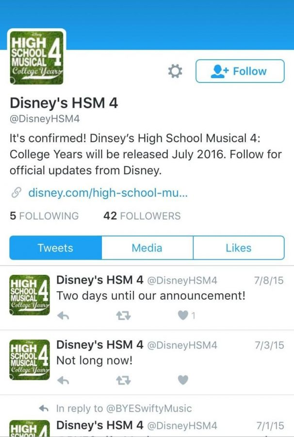Disney has officially announced the release of the fourth High School Musical. The movie is to premiere a little over a year from now. It will be composed of an entirely new cast of East High Wildcats as they challenge their rivals the West High Knights.