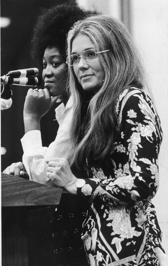 KRT LIFESTYLE STORY SLUGGED: NEWVOICES-GLORIASTEINEM KRT FILE PHOTO BY ST. LOUIS POST-DISPATCH (April 4) Gloria Steinem is shown in 1970 when she was a writer for New York magazine. (gsb) 2003 EDS NOTE: B&W ONLY