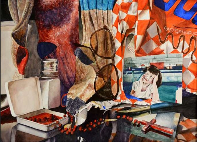 Vanitas Hannah Kast, 12  National Scholastics Silver Award  Painting