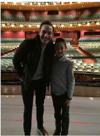 Adam Levine stands with Sean Montgomery, lead character in White Christmas at the Cincinnati Aronoff Center. The show line up includes: The Sound of Music, The Phantom of the Opera, A Gentleman's Guide to Love & Murder, The Little Mermaid, Something Rotten!, Mama Mia!, The Illusionists, Matilda, and Beautiful the Carole King Musical. Tickets can be found online at Aronoffcentertickets.com.