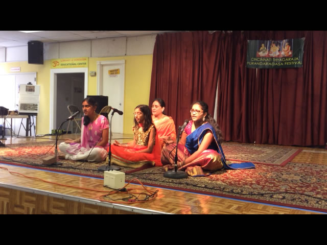 Konda sings at a function for her temple. Carnatic music is typically associated with Southern India. Indian classical music has evolved into two distinct styles: Hindustani music and Carnatic music.