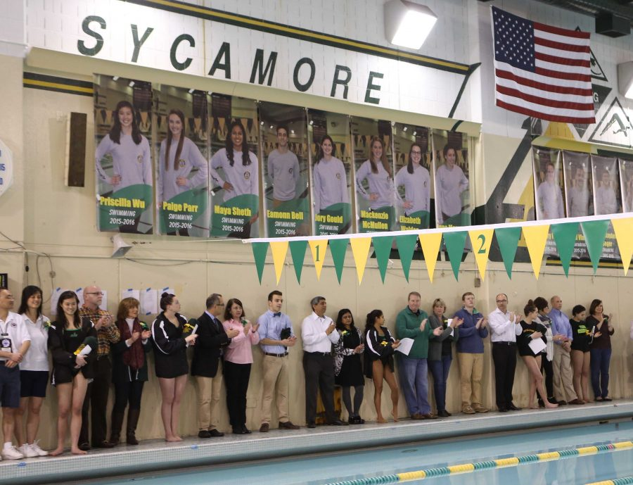 SHS+swimming+holds+its+annual+senior+night+as+the+last+home+meet+of+the+seniors.+This+year%2C+9+seniors+graduated.+Four+of+the+girls+graduating+were+state+qualifiers.+