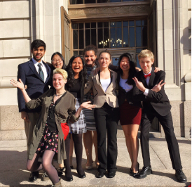 Last year's Green Team went down to the Hamilton County Courthouse for a competition. There both the Prosecution and Defense team debated over a mock shooting case. The case covered gun laws and police protocol.