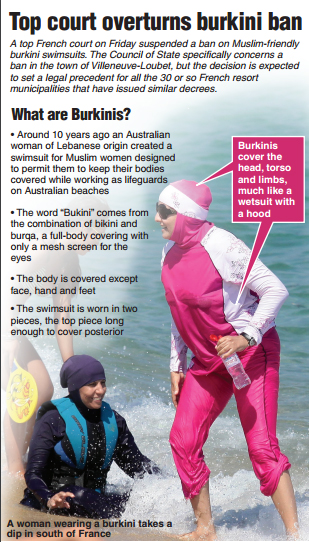 """The burkini was originally created by Aheda Zanetti.  Upon the completion of her product, Zanetti said in an interview with NPR, """"It made me, like, somehow, you know, complete now. I can fulfill a lifestyle that I've always wanted without the worry about what I was going to wear and how I was going to wear it or, you know, am I going to be acceptable, am I not? And I just want to go swimming."""""""