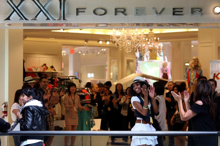 """Brands like Forever 21 are categorized as """"fast fashion brands."""" They produce large amounts of clothing at a low price to increase consumerism. These non-sustainable clothes end up in landfills and are detrimental to the environment."""