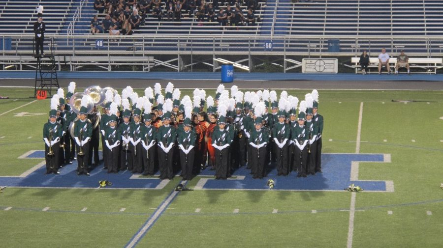 The marching band performs at Lebanon High School. They were able to compete with all three of their songs, although they did not march all of three. The students received many accolades at the conclusion of the show.