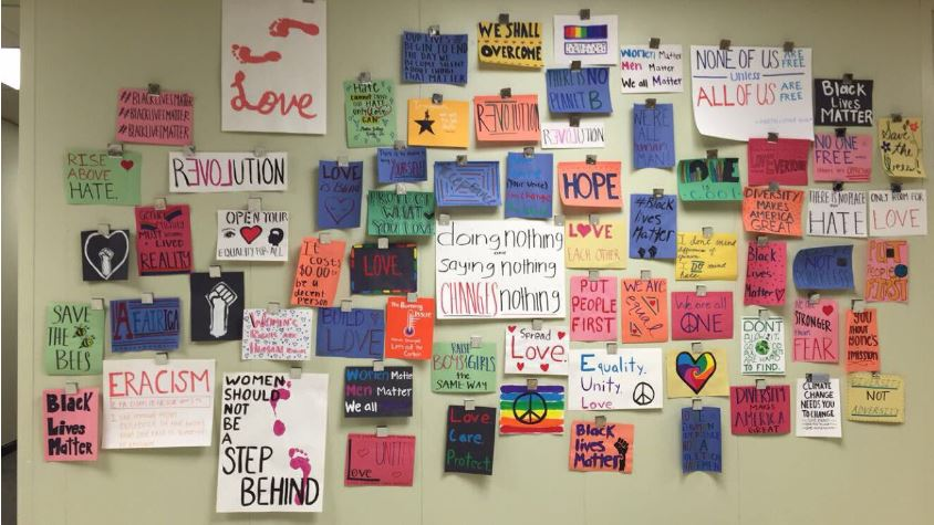 Many+days+after+school%2C+many+students+have+been+staying+to+create+powerful+posters+that+promote+love+and+acceptance.+They+used+sources+such+a+pinterest%2C+google%2C+and+their+own+creativity+to+come+up+with+their+posters.+Many+other+students+have+become+interested+in+joining+the+movement+and+filling+the+school+with+love%3B+there+may+be+a+club+created+to+do+just+that.