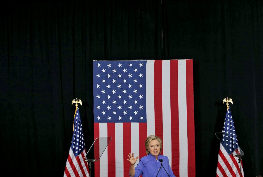 Clinton speaks in front of a crowd in Florida. This ugly election cycle, to many, has been exhausting. But looking past the orange haze that has descended upon America reveals a candidate that truly believes that we are Stronger Together.
