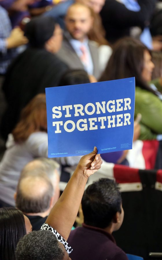 The first female nominee for a significant political party shines a spotlight on the issues of women. The policies that further gender equality and pinpoint issues that affect women are crucial to keep the momentum for women's issues going. Hillary's slogan is stronger together. Photo courtesy: MCT