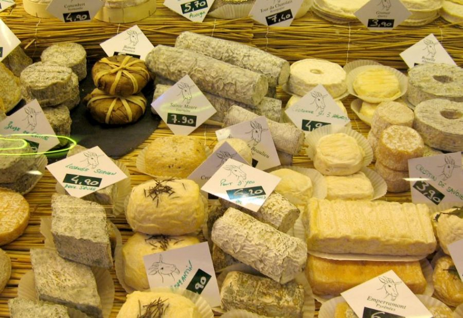 France is famous for their breads and varities of different cheeses. Some of the most well know french cheeses are Camembert, Brie, and Boursin. The french club has a diverse selection of food at every meeting, especially at their picnic meeting.