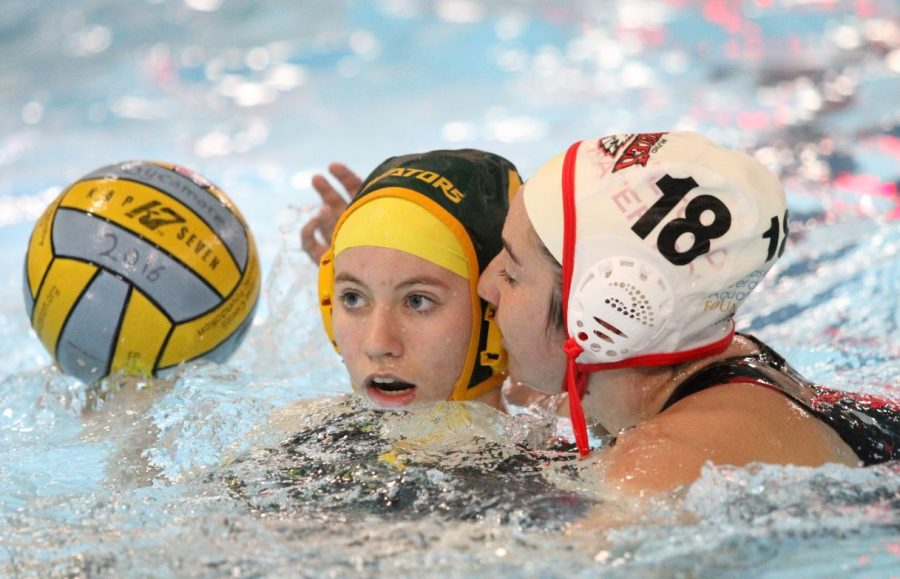 COMEBACK KID. After spending one year abroad in Belgium, Laura Setser, 12, came back to SHS and rejoined the water polo team. Setser is a fundamental part of the water polo team. While she was in Belgium she played soccer.