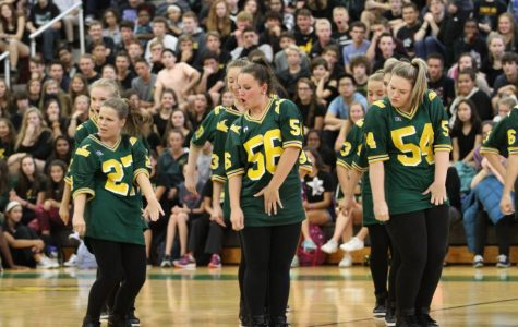 Flyerettes appear in pep rally