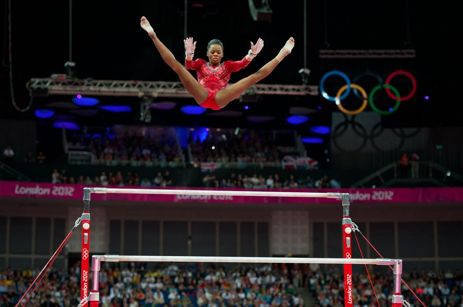 HGH UP. The uneven bars are one of the four events gymnasts in the Olympics perform. Korbut made gymastic history when she executed the Korbut Flip for the first time. Since then, many other gymnasts have tried many difficult moves on the uneven bars but none as dangerous as what Korbut did. Photo by MCT Campus